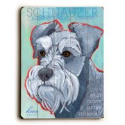 Artehouse LLC Schnauzer by Ursula Dodge Graphic Art Plaque