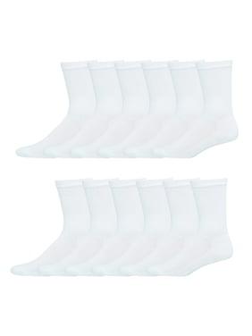 Hanes Men's Big & Tall X-Temp Crew Socks 12 Pack