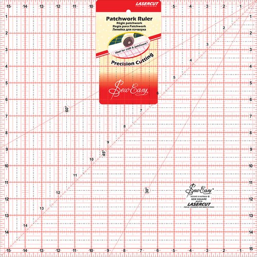 "SewEasy Square Quilt Ruler, 15.5"" x 15.5"""