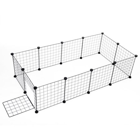Lv. life Small Pet Playpen, Metal Wire Apartment-style Two-storey Animal Fence and Kennel,pet palypen