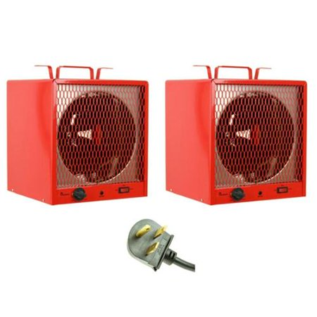 (2) DR. HEATER DR-988 Infrared 240V Garage Workshop Portable Space Heaters 5600W