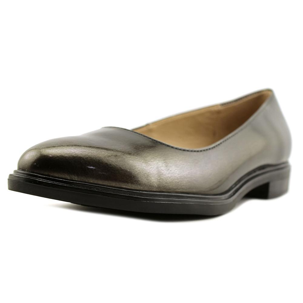 Naturalizer Bengol Women Round Toe Leather Gray Flats by Naturalizer