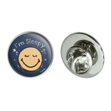 "I'm Sleepy Smiley Face Emoticon Officially Licensed Metal 0.75"" Lapel Hat Pin Tie Tack Pinback"