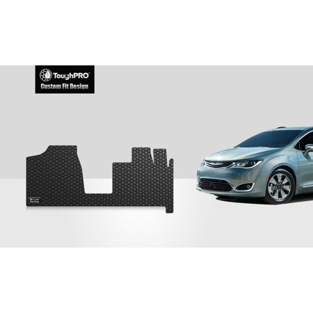 ToughPRO - CHRYSLER Town & Country Van Two Front Mats - All Weather - Heavy Duty - Black Rubber - (2011 Chrysler Town And Country Cargo Space)
