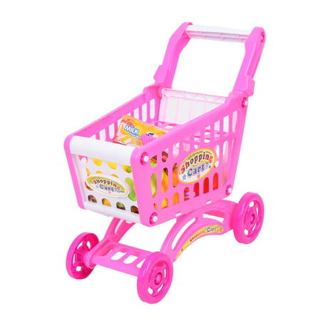 WonderPlay Kitchen Connection Shopping Cart Over 56 Pieces - Pink WonderPlay Kitchen Connection Shopping Cart Over 56 Pieces - Pink