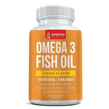 Omega 3 Fish Oil Capsules Burpless Blend  Lemon Flavor