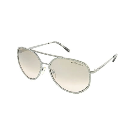 Michael Kors Women's Gradient Miami MK1039B-11538Z-58 Silver Round (Csi Miami David Caruso Sunglasses)