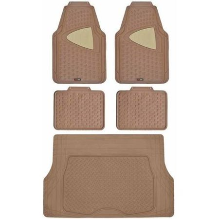 Motor Trend Eco Clean Car Floor Mats With Cargo Trunk Mat 100 Percent Odorless Black Beige Gray