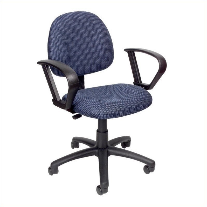 Boss Office Products Deluxe Posture Office Chair with Loop Arms-Black - image 5 de 6