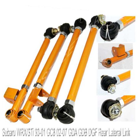 Rear Laterial Link Lower Control Arm Kit for 93-07 Subaru Impreza WRX/STi ORANGE
