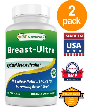 2 Pack - Best Naturals Breast-Ultra Breast Enlargement Pills 90