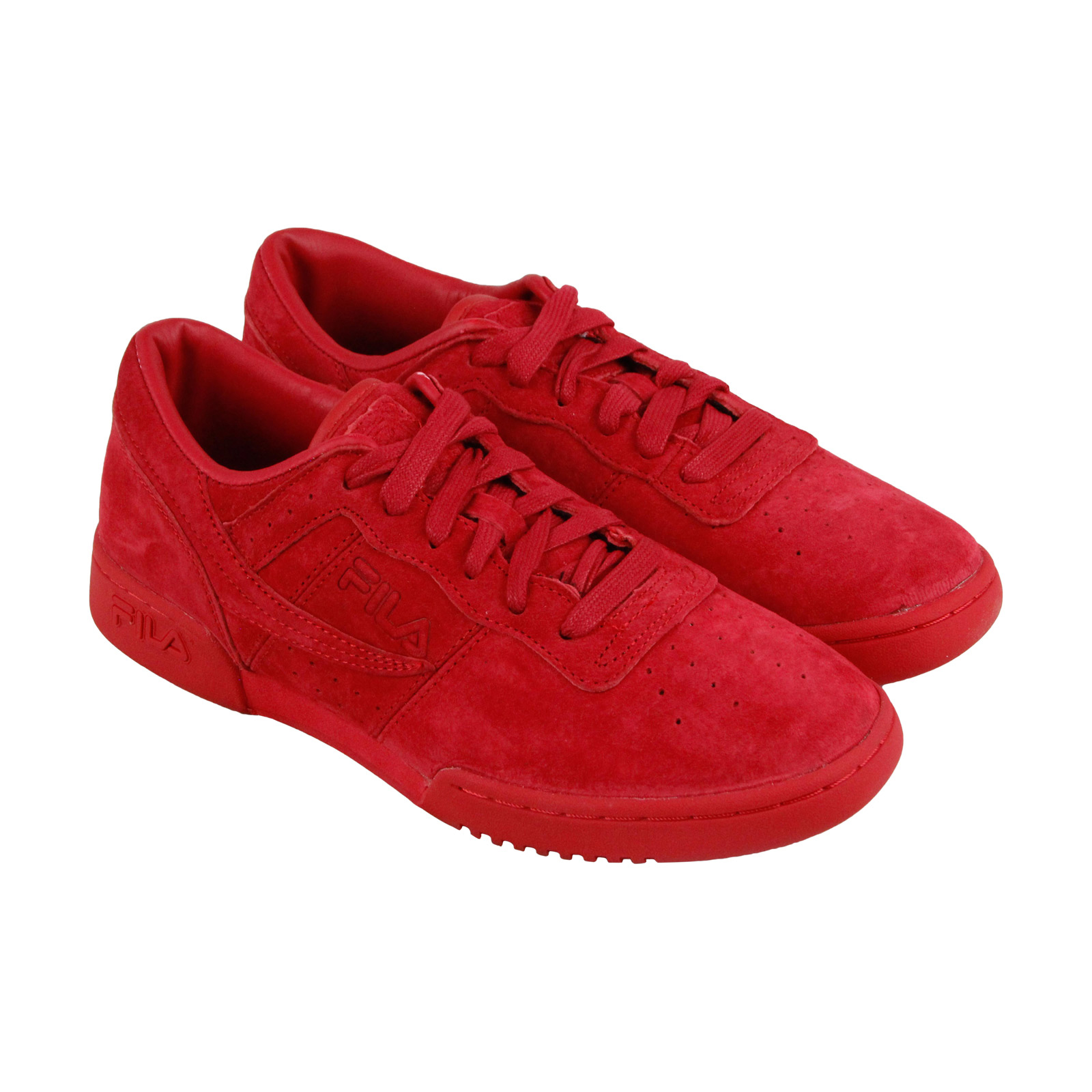 Fila Original Fitness Mens Red Suede Lace Up Sneakers Shoes by Fila