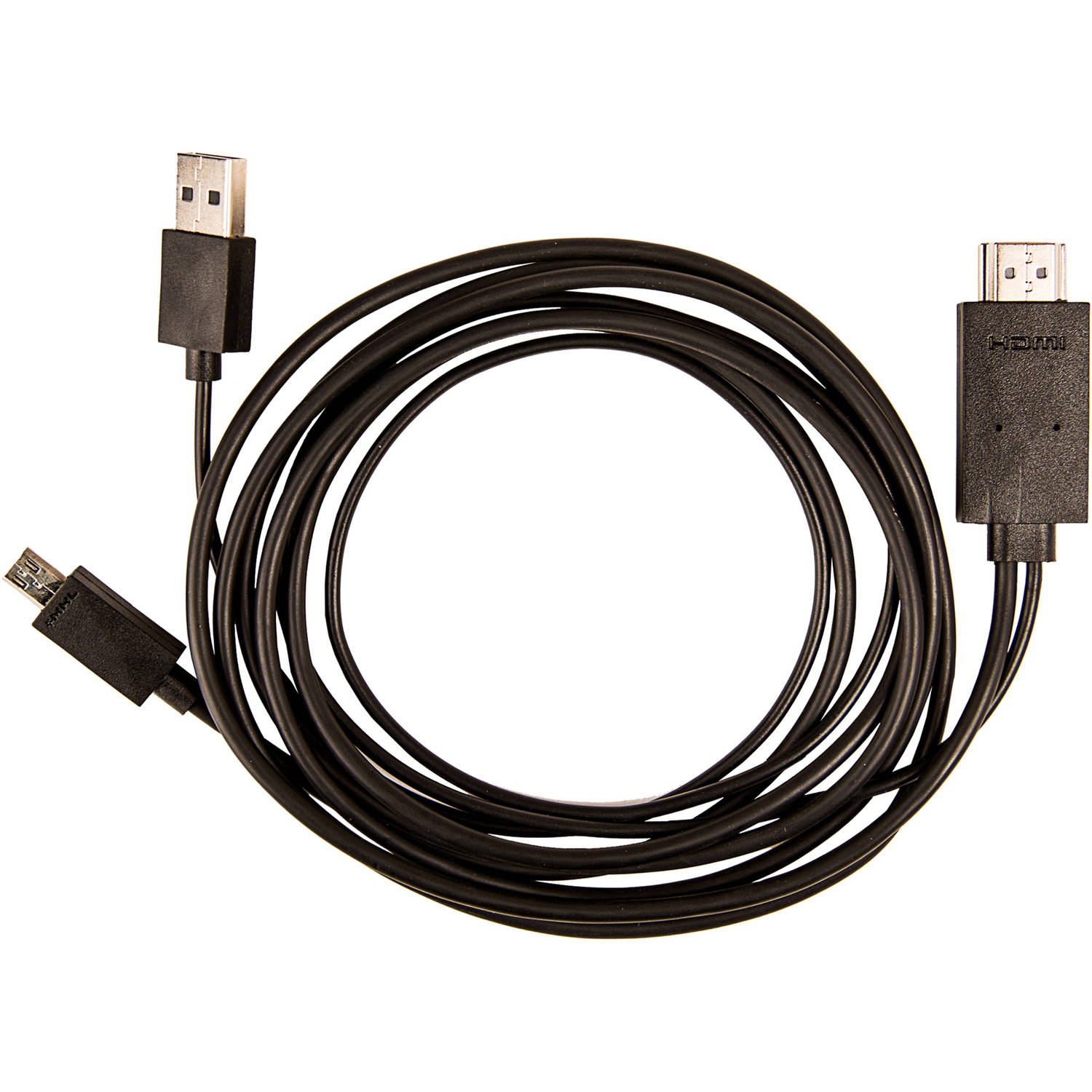 MHL 11 Pin Micro USB to HDMI Built-in MHL Adapter with 6 inch HDMI Cable