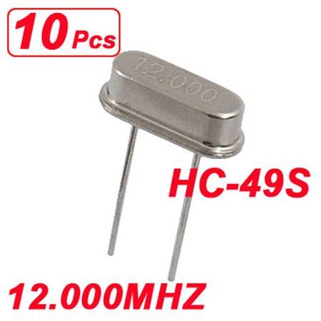10 x 12.000MHZ 12 MHZ 12M HZ Crystal Oscillator HC-49S - image 1 de 1