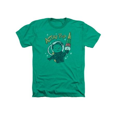 Astro Pop 1960's Rocket Pop Candy Vintage Astro Boy Adult Heather T-Shirt (1960s Boys)