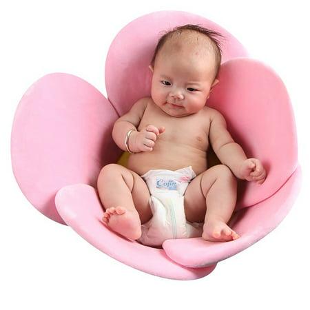 Baby Bathtub Newborn Baby Boys Girls Foldable Soft Flower Petal Shape Bathtub Pad Support Cushion Mat ()