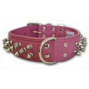 Angel? Amsterdam Bubblegum Pink Leather Dog Collar-22X1.1.2