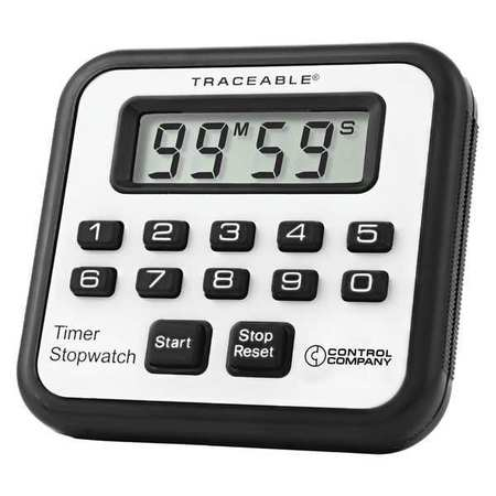 TRACEABLE 5020 Alarm Timer/Stopwatch, Accuracy 0.01 Pct