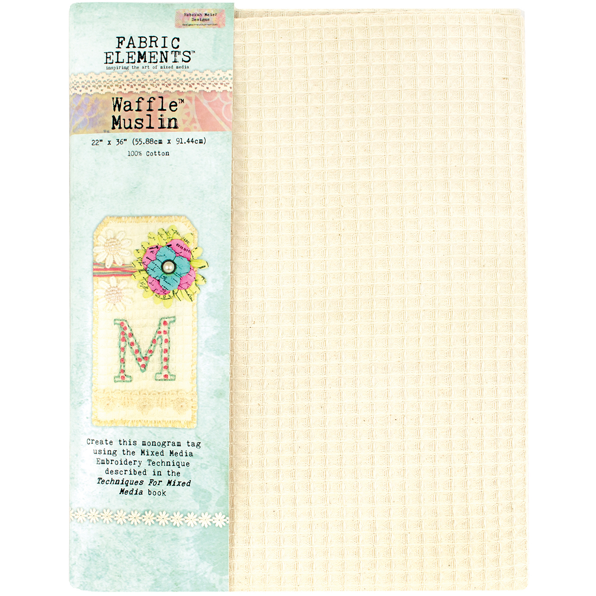 "Fabric Elements 22""X36"" Waffle Muslin 1pc-"