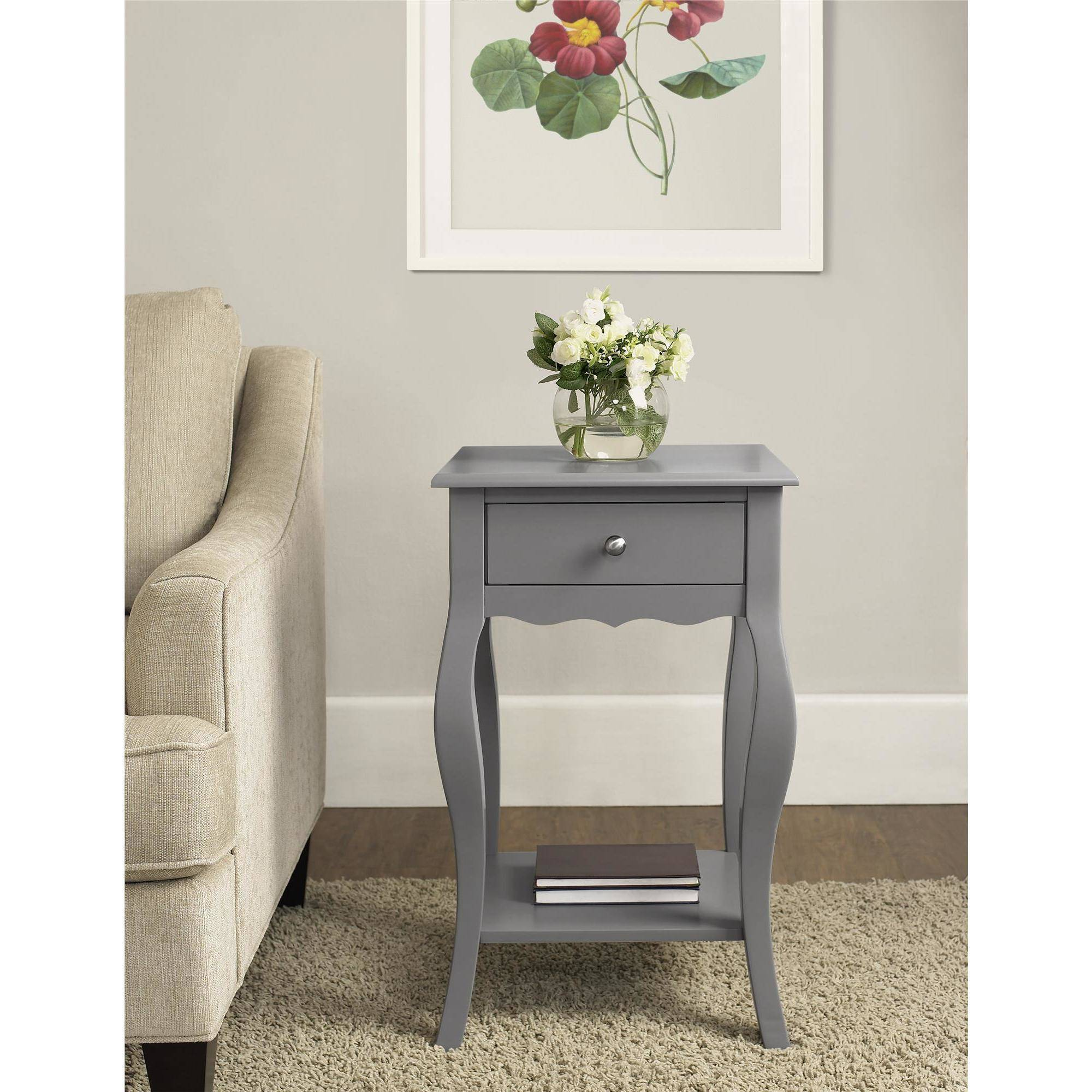 Ameriwood Home Kennedy Accent Table Gray Walmart Com