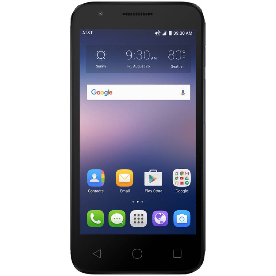 AT PREPAID Alcatel Ideal 8GB Prepaid Smartphone, Black