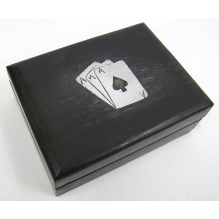 Playing Card Box (India Overseas Trading SH35465 Wooden Playing Card)