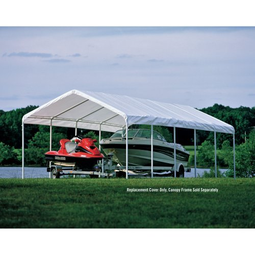 ShelterLogic 12 x 30 Canopy White Replacement Cover for 2'' Frame