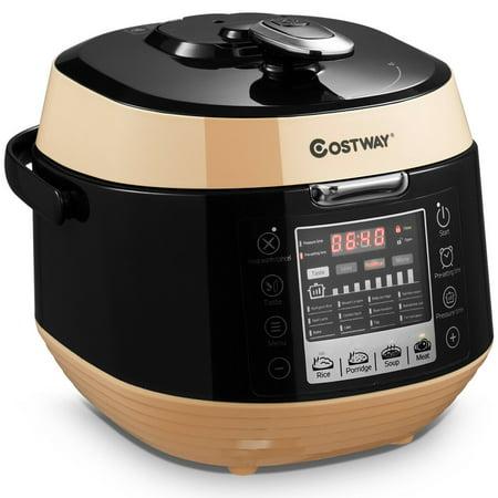 Costway 5.3 Qt 12-in-1 Programmable Multi-use Electric Pressure Cooker Non-stick Pot