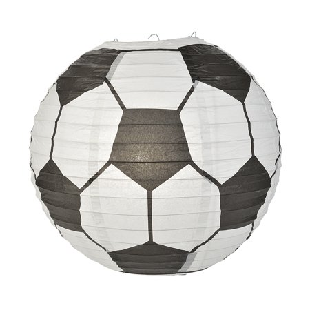 Quasimoon Soccer Ball Paper Lantern (10 PACK) by PaperLanternStore