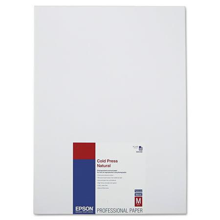 Epson Cold Press Natural Fine Art Paper, 13 x 19, 25 Sheets