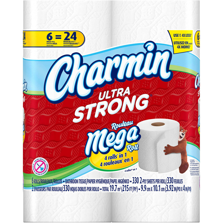 Charmin Ultra Strong Toilet Paper, 6 Mega Rolls