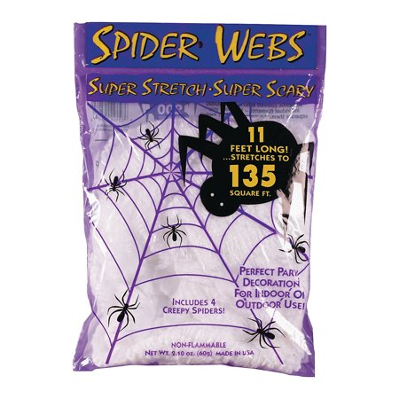 Fun Express - Spider Web 40gr White for Halloween - Home Decor - Decorative Accessories - Home Accents - Halloween - 1 - Fun Halloween Decor