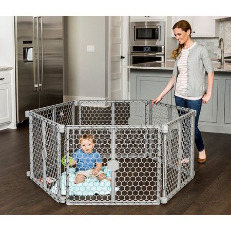 Regalo 192 Inch Wide Gate 8 Panel Portable Indoor Outdoor Playard Superwide 2 In 1