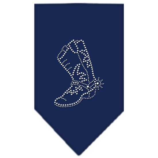 Boot Rhinestone Bandana Navy Blue large