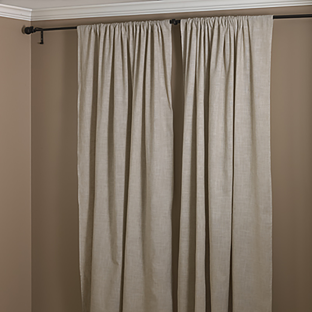 Natural Beige Classic Tuscany Hemtitch Design Curtain Panel 3 Inch