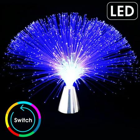 LED Fiber Optic Night Light Lamp Flashing Colorful Multicolor Toy Romantic Christmas opticfiberlight Home Room (Fisher Night Light)