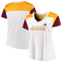 Product Image Washington Redskins Majestic Women s Lace-Up V-Neck T-Shirt -  White  a0cf2c194