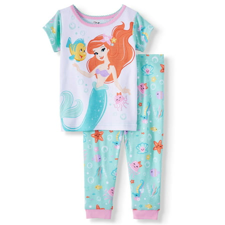 The Little Mermaid Cotton Tight Fit Pajamas, 2pc Set (Baby Girls) (Mermaid Infant)