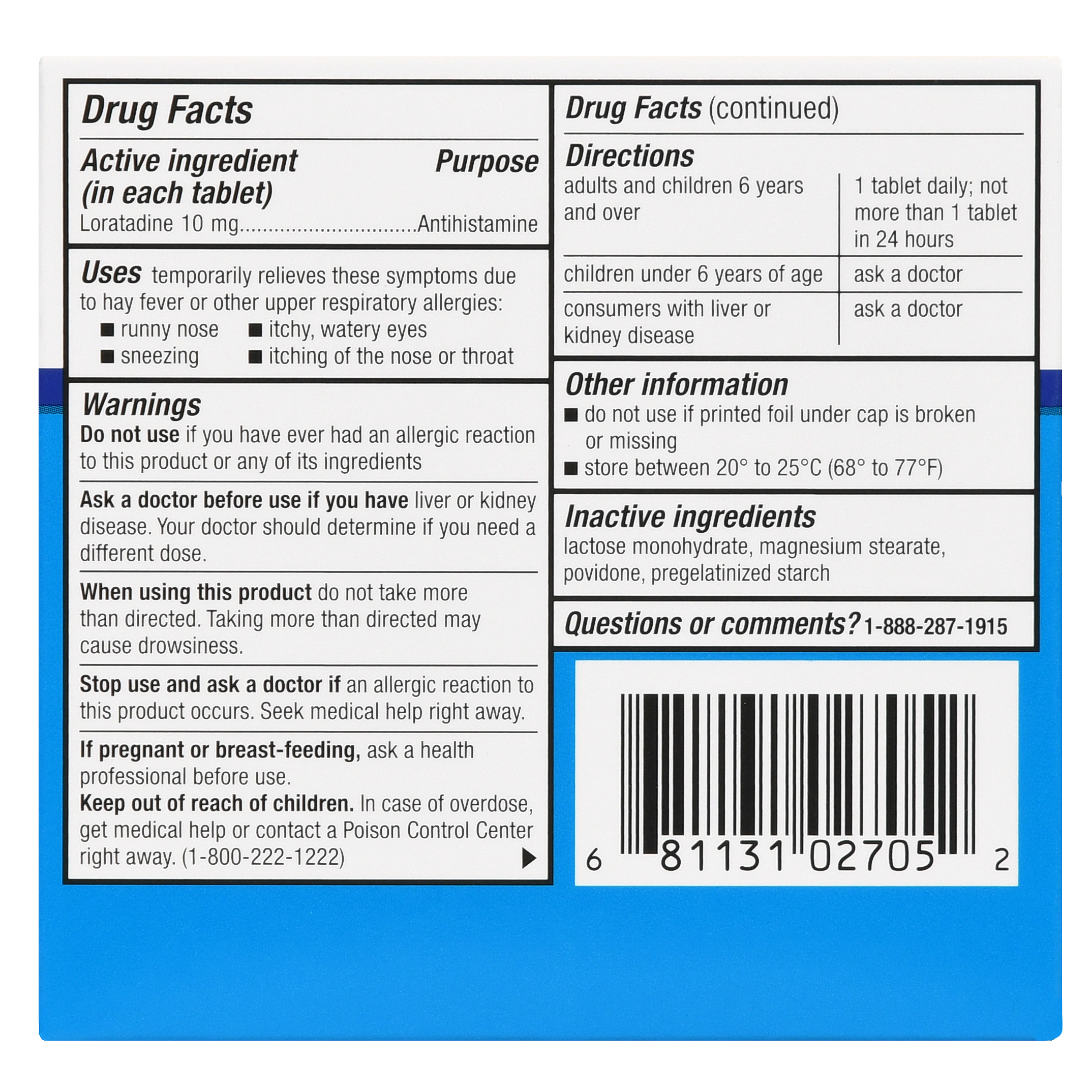 The drug Loratadin: instructions for use and description