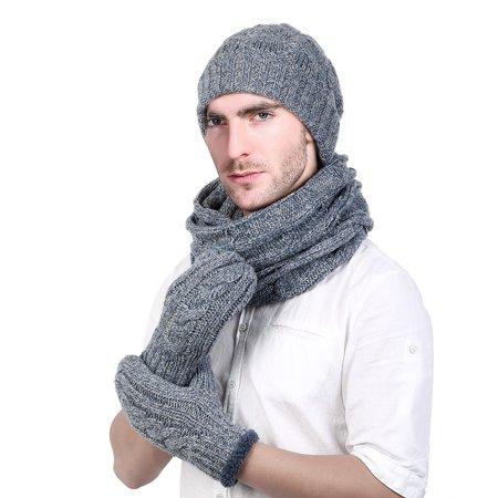 Allcaca - Winter Hat Set-Allcaca Winter Warm Beanie Hat + Scarf + Touch  Screen Gloves Unisex 3 Pieces Cap Set for Men Women - Walmart.com 41fe30ebbf3f