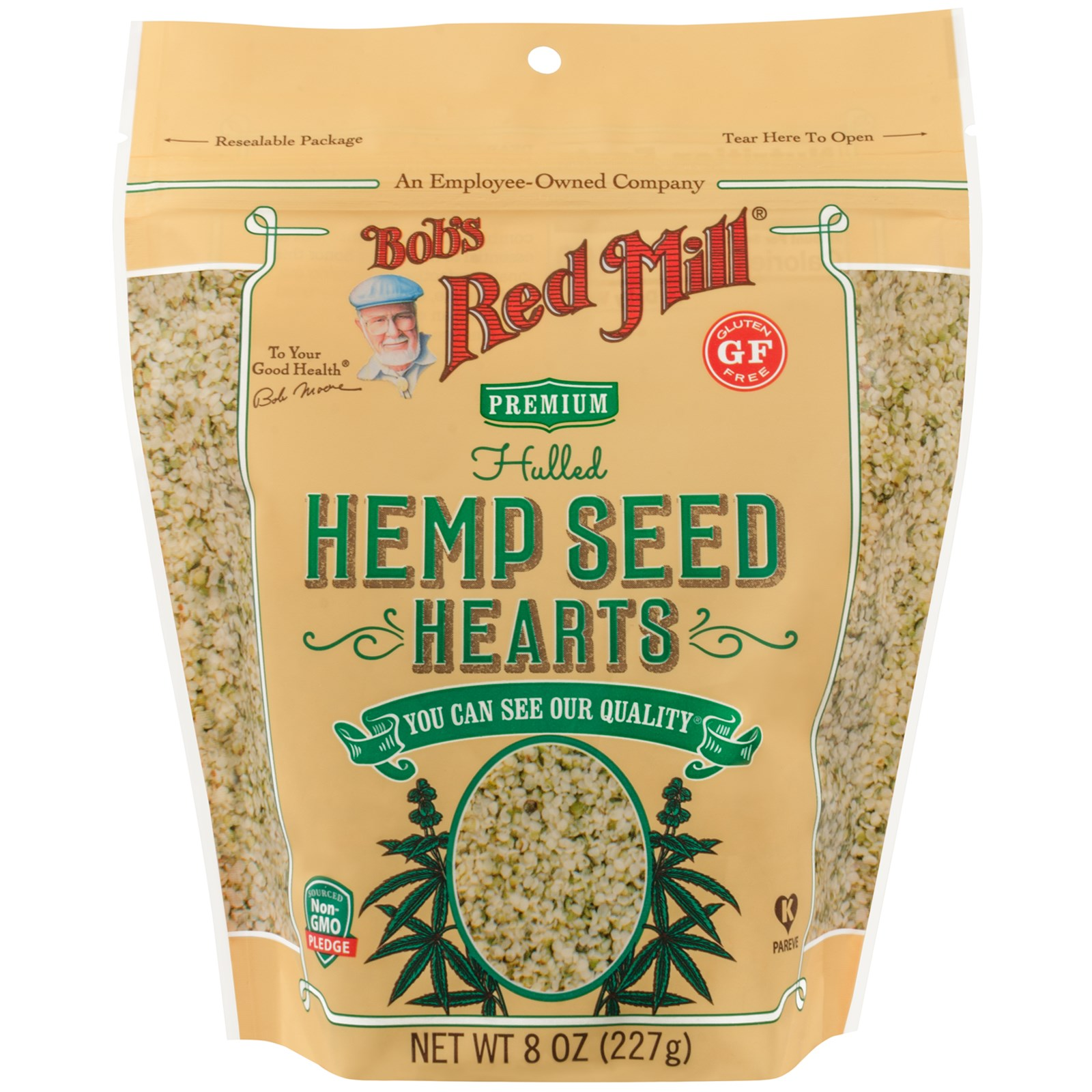 Bob's Red Mill, Hulled Hemp Seed Hearts, 8 oz (pack of 12)