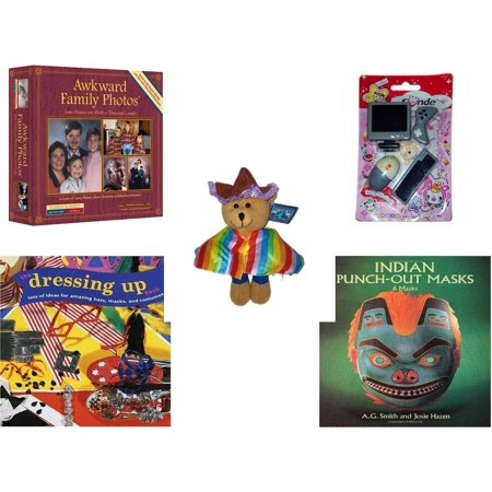 Children's Gift Bundle [5 Piece] -  Awkward Family Photos  - Sunde Computer  Eraser  - Bears of The World Mexico   - The Dressing-Up Book: Lots of Ideas for Amazing Hats, Masks, and Costumes  - Indi - Family Of 4 Photo Ideas