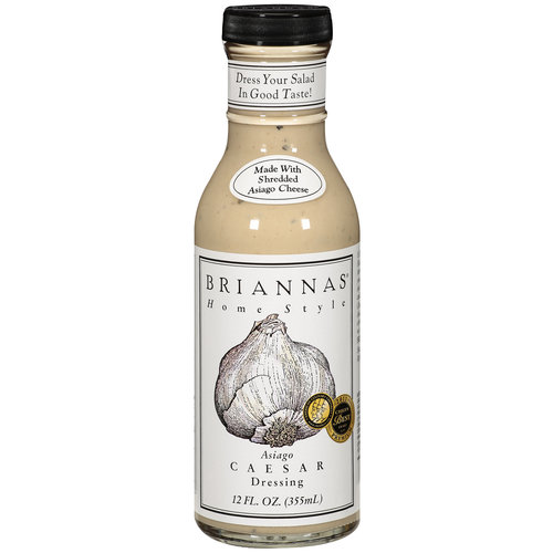 Briannas Home Style Asiago Caesar Dressing, 12 fl oz