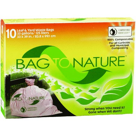 Bag To Nature Leaf Amp Yard Waste Bags 10 Ct Walmart Com