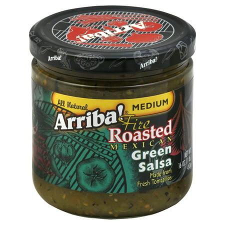 Arriba Salsa Fire Roasted Mexican Green Salsa Medium 16 oz