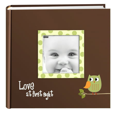 Pioneer Photo Albums Baby Owl Designer Photo Album, Green Animals Baby Photo Album