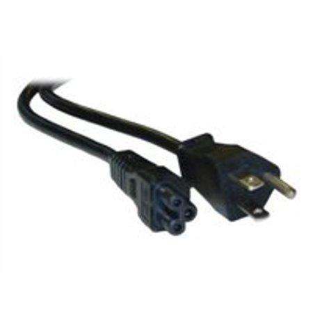 CableWholesale.com - Power cable (125 VAC) - IEC 320 EN 60320 C5 to NEMA 5-15 (M) - 1 ft -
