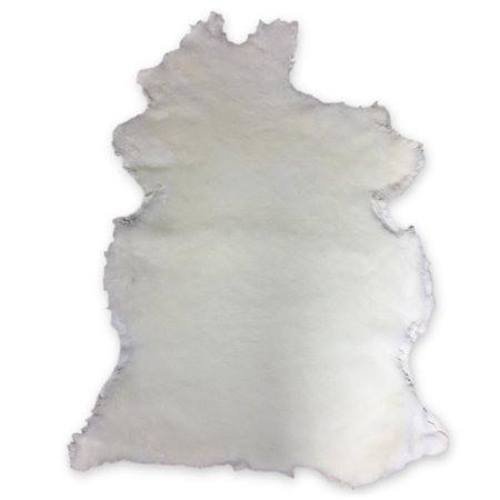 Natural White Shearling Leather Sheepskin Hides Fur Skin Hair On Avg 8.75 Sqft - image 6 de 6
