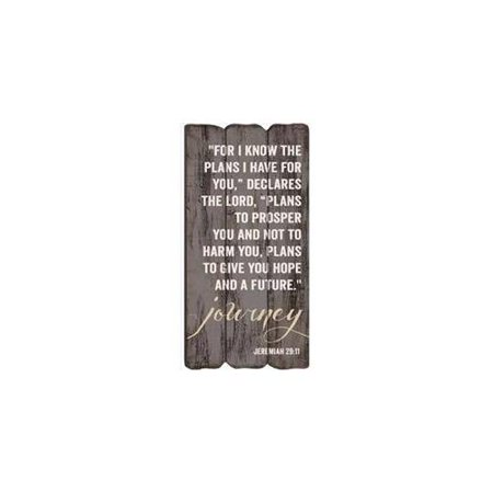 Decorative Sign Posts - Journey Jeremiah 29:11 Small 12x6 Fence Post Art Decorative Wall Plaque