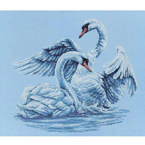 "RTO Swan Fidelity Counted Cross-Stitch Kit, 15-3/4"" x 13-3/4"", 14 Count"